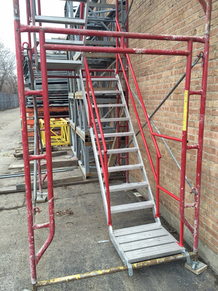Tower Scaffold Stair Tower Stairway : Temporary stair towers des plaines illinois