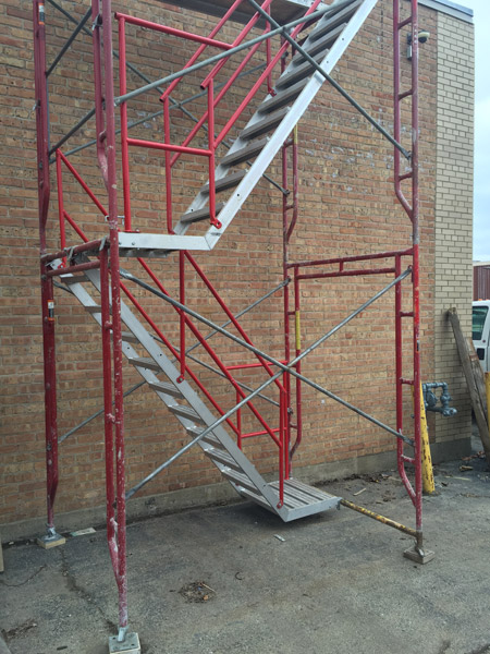 Frame Type Stairtowers Red Railing