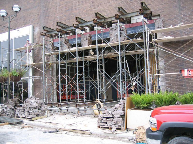 Needle Beam Shoring For Wall : Shoring installation services des plaines illinois