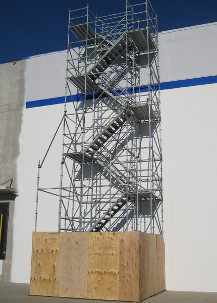 Temporary Stair Towers. System Scaffold Stairtower
