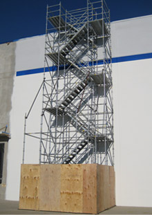 System Scaffold Stairtower